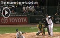 Gray escapes bases loaded jam